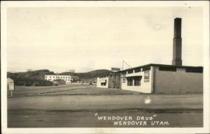 Wendover UT Drud Drugstore Real Photo Postcard
