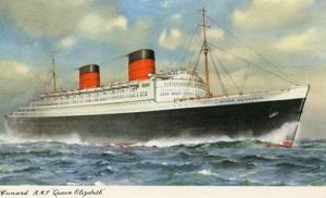 Cunard  Line - RMS Queen Elizabeth  ****PAQUEBOT****