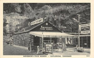 LP23 Gatlinburg   Tennessee Postcard Anderson's Food Market