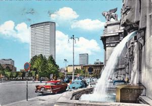 MILANO, Lombardia, Italy, PU-1950; Square Placer Duca D'Aosta, Fountain, Clas...