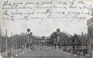 Inauguration, March 4, 1909 Washington DC USA Political Postcard Post Card Wa...