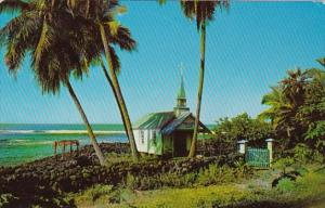 Hawaii Kona Kahaluu Beach The Blue Church Of St Peter's By The Sea