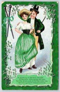 St Patrick's Day~Irish Couple~Shamrock Brings Back Memories of Old Erin~NASH 3