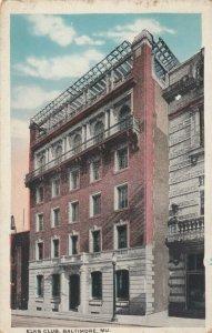 BALTIMORE , Maryland,1910s ; Elks Club