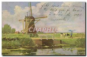 Postcard Old Windmill