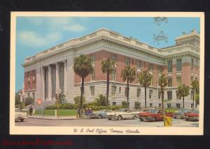 TAMPA FLORIDA U.S. POST OFFICE DOWNTOWN 1960's CARS VINTAGE
