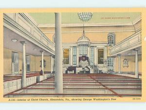 Unused Linen CHURCH SCENE Alexandria Virginia VA p4513
