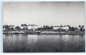 Quarantine Station from Shearwater ? Long Beach CA ? Vintage Postcard D29