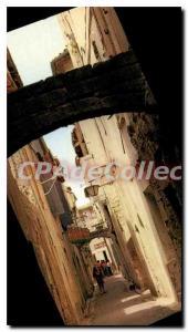 Postcard Modern SOMMIERES street Mazelle