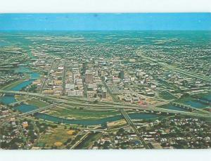 Pre-1980 AERIAL VIEW OF TOWN Dayton Ohio OH n3341