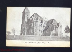 ALBANY MISSOURI SOUTH SIDE PUBLIC SCHOOL ANTIQUE VINTAGE POSTCARD MO.