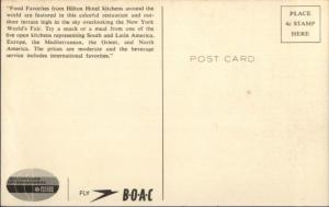 1965-65 New York NY World's Fair Hilton Caf' International Postcard