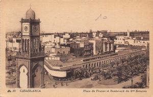 Morocco Casablanca, Place de France et Boulevard du 4me Zouaves, Panorama
