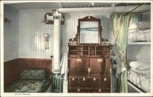 United Fruit Co Steamship SS Santa Marta Bedroom State Room c1910 Postcard