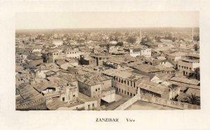 RPPC Bird's Eye View ZANZIBAR Tanzania Africa c1910s Vintage Postcard