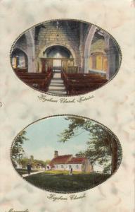TUCK #1004; Double Oval Marble, MORECOMBE, 00-10s; Heysham Church, Interior