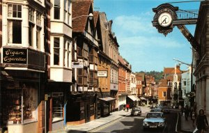 Vintage Hampshire Postcard, High Street, Winchester, Classic Cars FN6