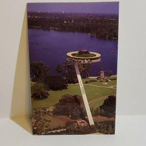 Vintage Postcard Island In The Sky Florida Cypress Gardens 1984 amusement ride