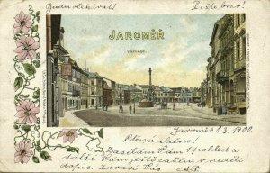 czech, JAROMĚŘ JERMER, Street Scene, Square (1900) Art Nouveau Postcard