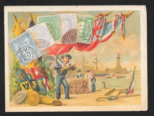 VICTORIAN TRADE CARDS (2) Boats Coins & Stamps