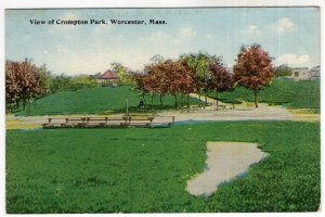 Worcester, Mass, View of Crompton Park