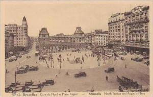 Belgium Bruxelles Gare du Nord et Place Rogier