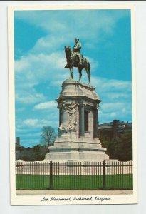 POSTCARD ~ Robert E LEE Monument  ~ Richmond, VA