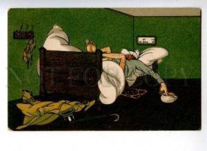 161233 COMIC Sleeping Gentleman Vintage Colorful PC