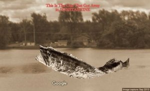 Constantine Michigan~Exaggerated Fish Is One That Got Away~St Joe River* 1918