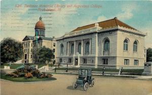 Rock Island Illinois~Denkman Memorial Library~Augustana College~1913 Car~PC