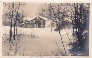 Whittier Birthplace Winter Haverhill Massachusetts Real Photo