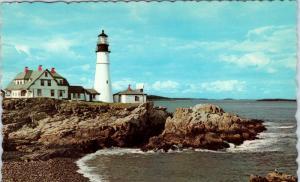 PORTLAND, ME Maine    Portland  HEAD LIGHT     c1960s     Postcard