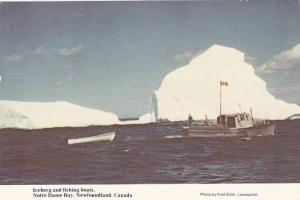Iceberg and Fishing Boats, Notre Dame Bay, Newfoundland, Canada, PU-1992