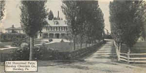 Hershey PC~Old Homestead Farm~Hershey Chocolate Co~1910 Candy Bar Postcard
