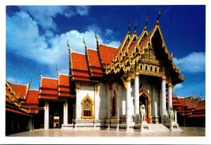 Thailand Bangkok Beautiful Back View Of Wat Benjamabophit