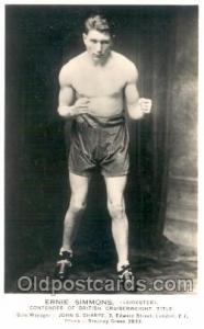 Ernie Simmons Boxing Postcard Postcards  Ernie Simmons