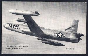 Lockheed F94C Starfire Fighter Jet unused c1950's