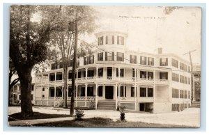 1914 RPPC Hotel Barre MA Hotel Real Photo Postcard
