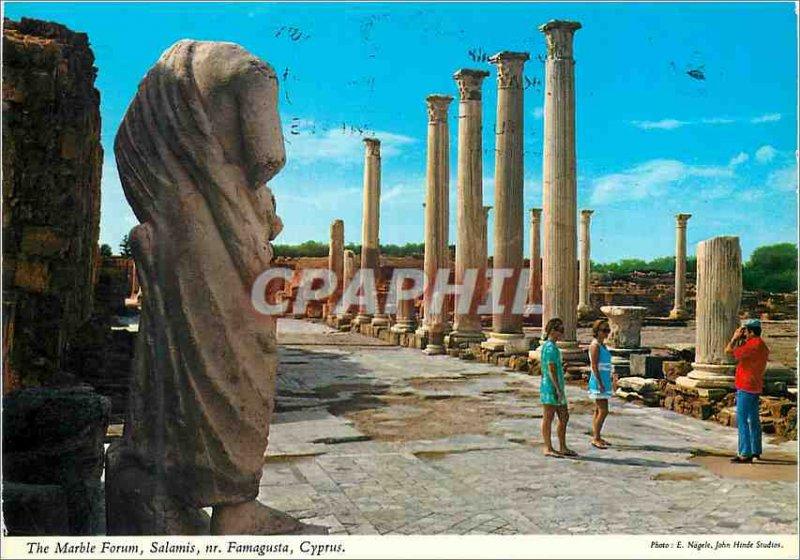 Modern Postcard The Marble Forum Cyprus Salamis Famagusta Cyprus nr