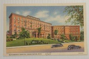 Postcard Butterworth Hospital 1953  Grand Rapids Michigan Linen Unposted 22