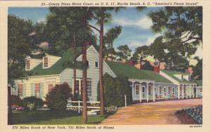 Ocean Pines Motor Court, On U.S. 17, MYRTLE BEACH, South Carolina, 1930-1940s