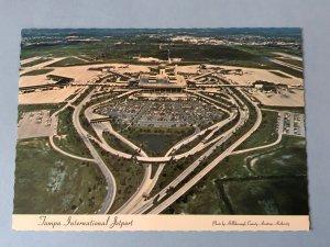 Vintage postcard aerial view of Tampa International Airport in Tampa, FL (FL-5)