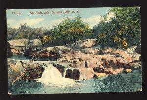 Carago Lake, New York/NY Postcard, The Falls, Inlet, Canada lake, 1915!