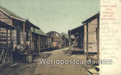 Republic of Panama, República de Panamá Old Native Street Empire Canal Zone...