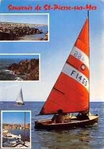 France St Pierre sur Mer, Harbour Bateaux Port, Plage Panorama 1975