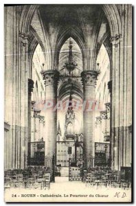 Old Postcard Rouen Cathedral Choir The Circumference