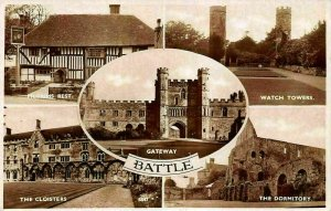 Battle Gateway The Cloisters The Dormitory Watch Towers Postcard