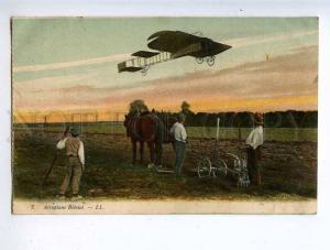 205198 FRANCE AVIATION Bleriot airplane pilot LL #7 old