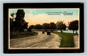 Cleveland OH-Ohio, Drive In Gordon Park Lake Erie Vintage c1913 Postcard