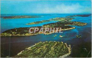 Modern Postcard Bailey Island Located in the Brunswick Bath Area with Joquish...